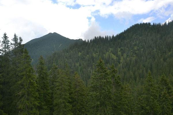 Und schon liegt der Gipfel wieder hinter dem Wandersmann.