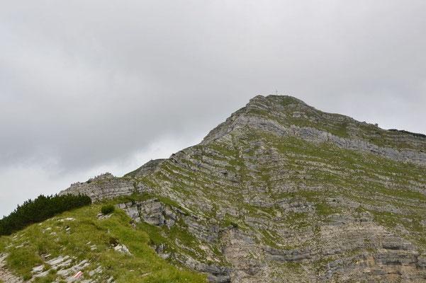 Stufenartiger Gipfel des Schafreiters