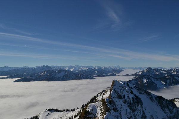 Gipfelblick bis zur Zugspitze