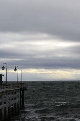 … am Pier von Santa Gruz