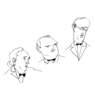 Three guys with bow tie