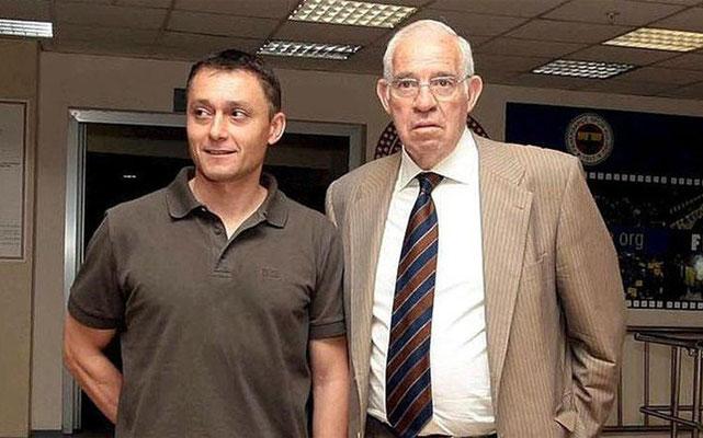 Junto a Luís Aragonés.