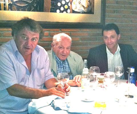 Comiendo con Alfredo Di Stéfano y Jesús Paredes