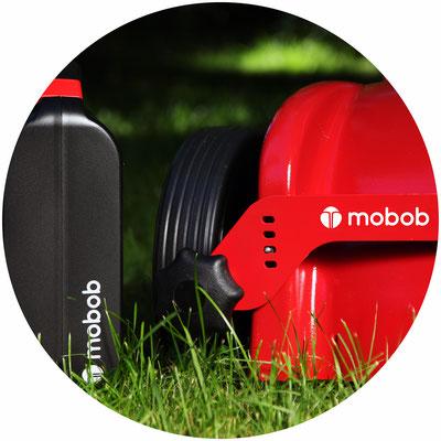 Mulchmäher mobob® mit mobob® Akkubox