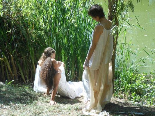 Les Quatres Saisons des Dames du Lac_été_Jess, Julia et Liv_photo Nicole Clarac Lagès 2015