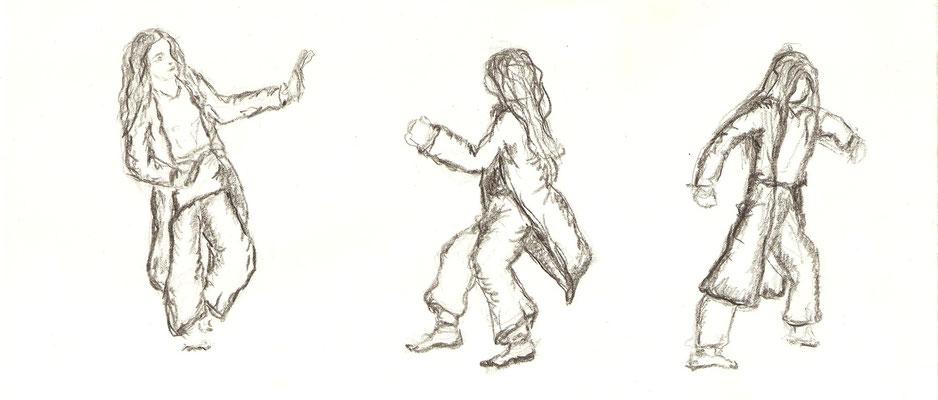 Esther 2015_Phoenix, dessin inspiré de notre film de danse.