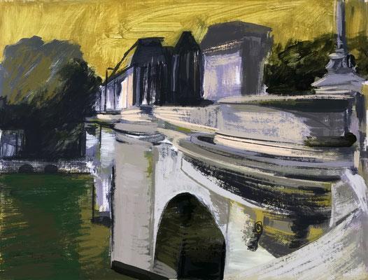 Pont Neuf, Studie I, 2021, 40 x 50 cm