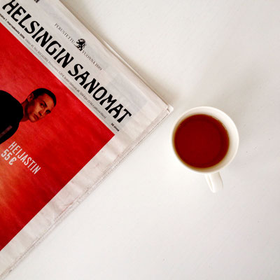 Once, I had a tea with Helsinki sanomat, Finland