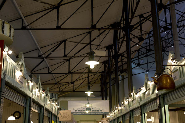 The market hall of Tampere, Finnland