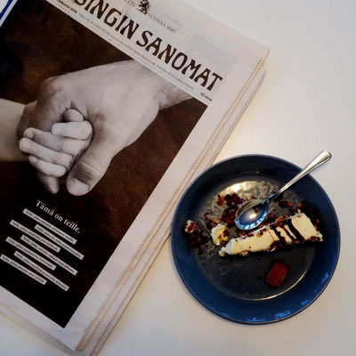 Favourite cake with Helsinki sanomat, Finland