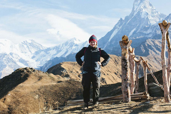 Die härtesten Aufstiege sind geschafft, Mardi Himal Trek, Nepal