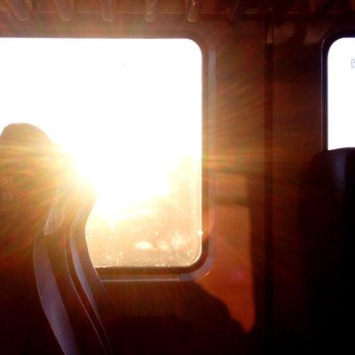 Reiseromantik im Zug