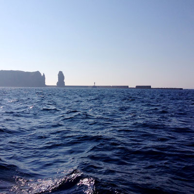 Helgoland seen from the sea