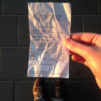 Ticket nach Vilnius