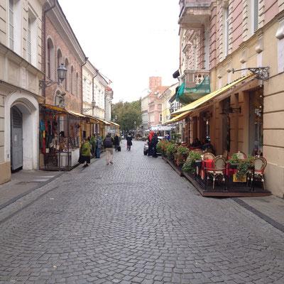 Straße in Vilnius