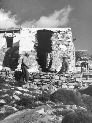 Chorio in Moroergo (Mykonos),  1983, renovation