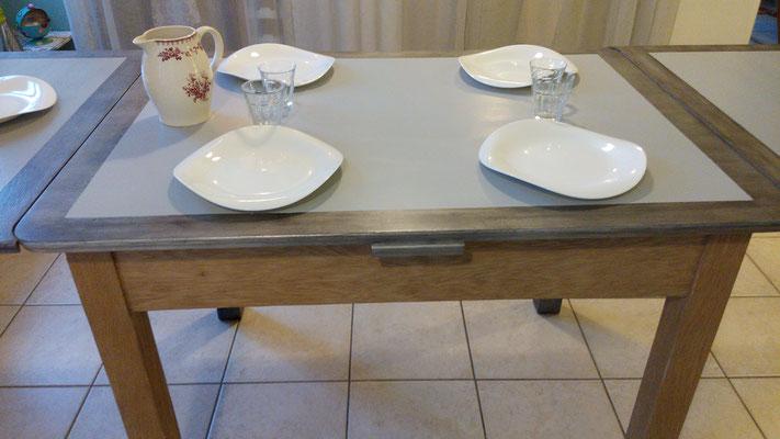 Table à rallonge modernisée