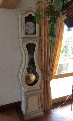 Horloge comtoise bicolore