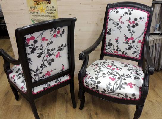 Rénovation de deux fauteuil à Domène