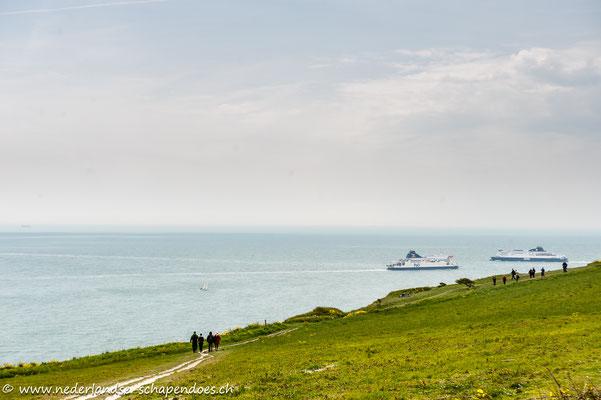 Unterwegs auf dem Saxon Shore Way zwischen St. Margaret`s-at-Cliffe und Dover