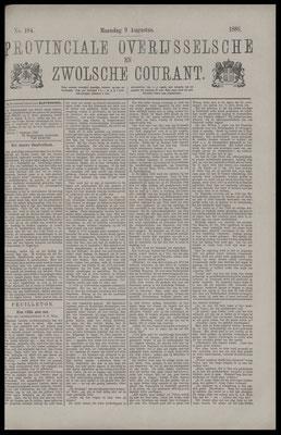 Provinciale Overijsselsche en Zwolsche courant 09-08-1886