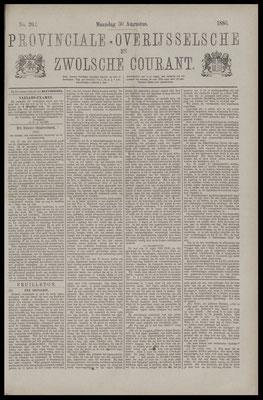 Provinciale Overijsselsche en Zwolsche courant 30-08-1886