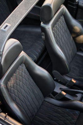 Autosattlerei - Individuelle Innenausstattung für ein Golf 3 Cabrio.