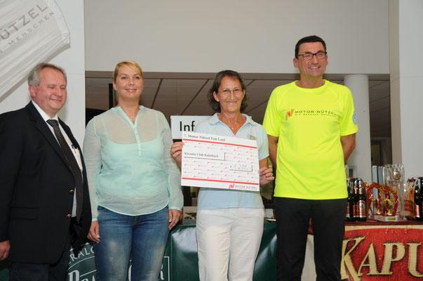 Spendeneinnahmen beim Motor Nützel Fun Lauf 2014