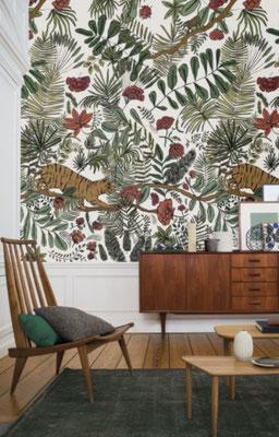 marie saiki papier peint villefranche beaujolais lyon panoramique tigre jungle vert panoramas casamance