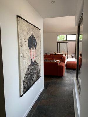 papier peint marie saiki villefranche beaujolais lyon collection kimono l'Impératrice masureel