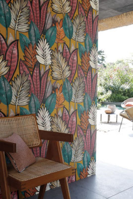marie saiki papier peint villefranche beaujolais lyon feuillage couleur manille casamance