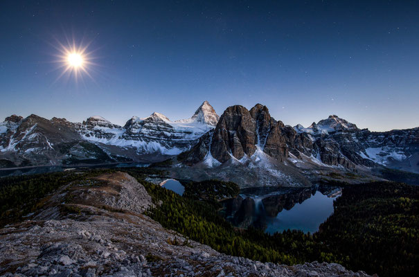 Mount Assiniboine by the moonlight