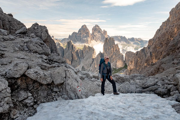 My hiking friend Magda on the Forcella del Diavolo