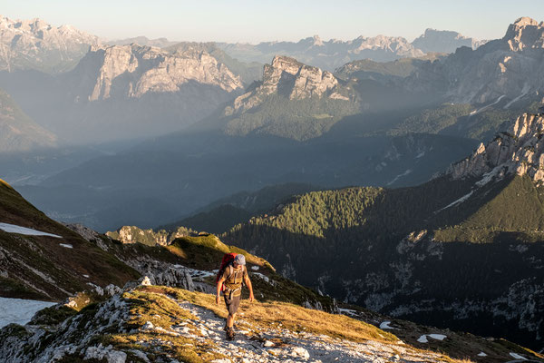 The stunning views of the quiet Dolomiti Bellunesi National Park on day 10 of Alta Via 1
