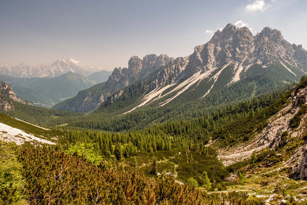 The Balanzola valley on the last push to rifugio Pramperet