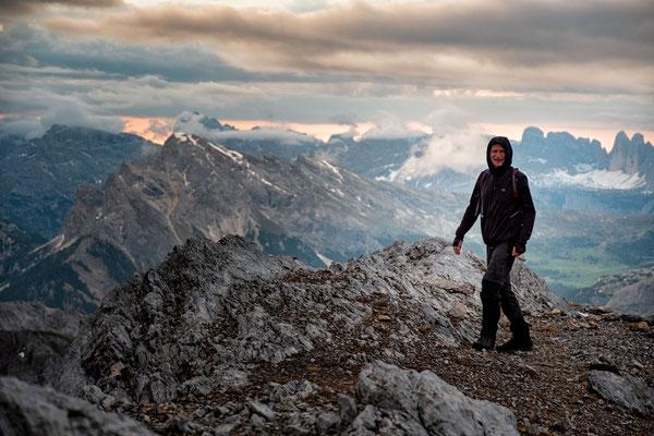 My dad on the summit of Croda del Becco