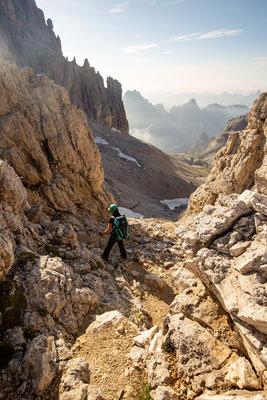 Coming down from Passo delle Lede into Vallon delle Lede