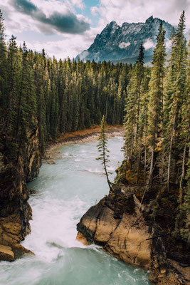 Sunwapta Falls. Best hikes in Jasper National Park