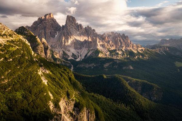 The view over Monte Cristallo from the via ferrata Vandelli