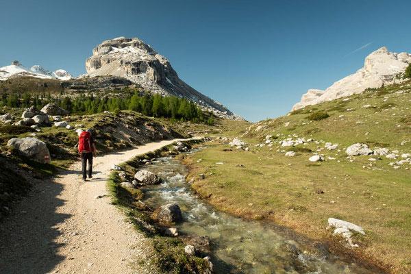 Traversing through the Fanes-Sennes-Braies Nature Park on day 3 of Alta Via 1