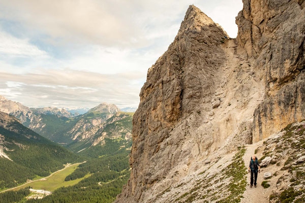 Coming down from Forcella de Misurina