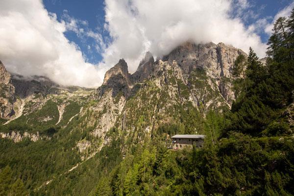 Rifugio Treviso in the Pale Di San Martino Group