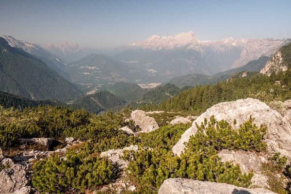 Hiking through the beautiful Dolomiti Bellunesi National Park