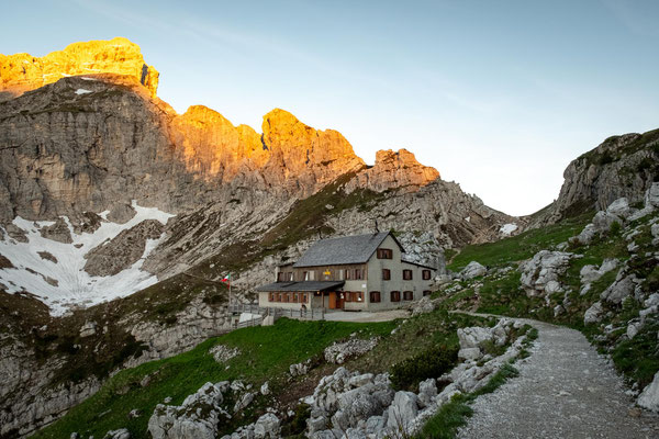 Rifugio Coldai, our accommodation on the 6th night of Alta Via 1
