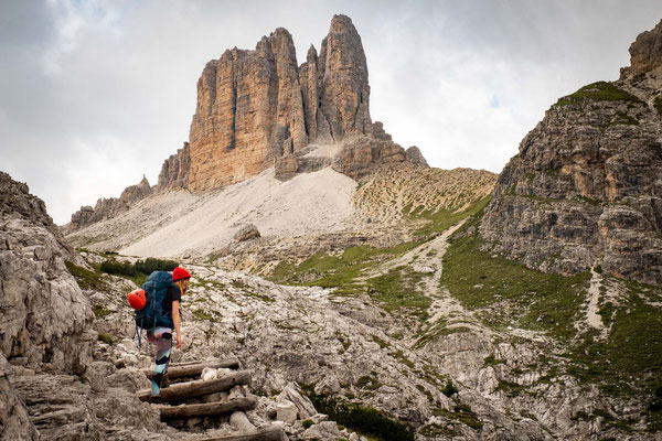 The view over Torre dei Scarperi on the first day of the Alta Via 4