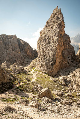 Typical views in the Dolomites from Forcella Cir