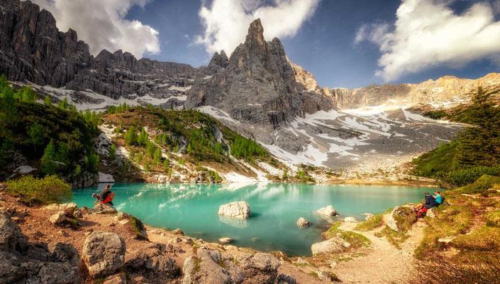 Lago di Sorapiss - the culmination of day 3.
