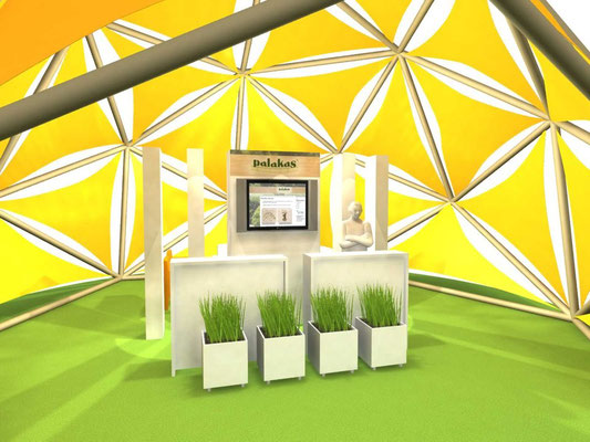 Diseño stand domo © Grupo Geopues