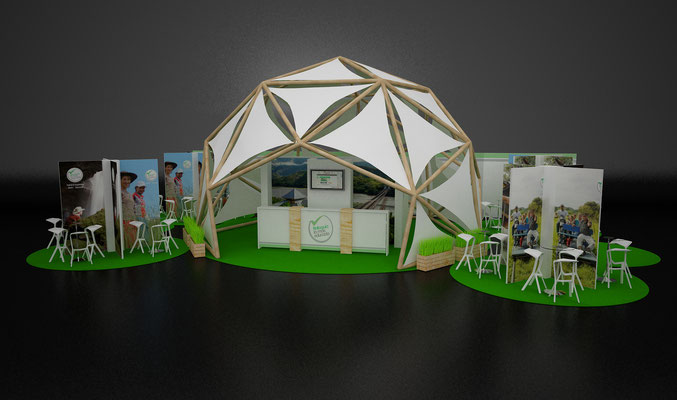 Diseño stand domo © Grupo Geopues