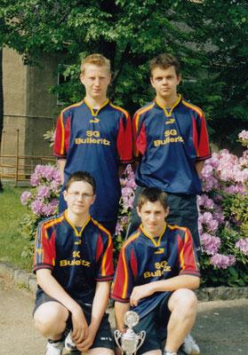 von links nach rechts: hinten: Sven Zschiesche, Martin Wendt vorn: Phillip Zimmermann, Oliver Fiech
